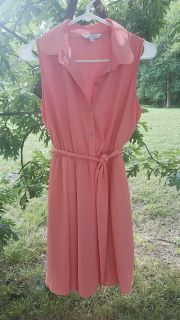 Coral Charming Charlie Sundress (with waist tie)