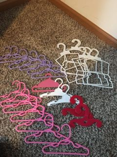 24- American Girl Doll/ Our Generation Doll clothes hangers.