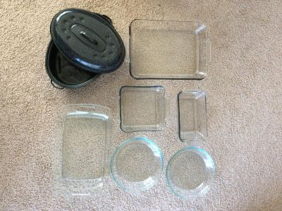 Glass Bakeware and roaster