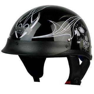 Purchase LIMITED EDITION PGR SKULL BLACK Motorcycle DOT Half Helmet Chopper Cruiser Biker motorcycle in La Verne, California, US, for US $0.99