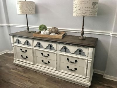 Vintage Hand Carved Entryway/ Buffet/ TV Console / Dresser- Large