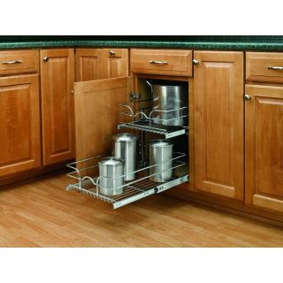 """REDUCED PRICE! Rev-A-Shelf 15"""" Wide by 22"""" Deep Two Tier Pull Out Base Cabinet Organizer"""
