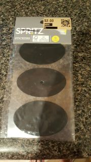 black oval stickers 9 stickers