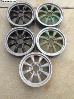 "5 OG 2 Piece 15"" EMPI 8 Spoke Rims/Wheels"