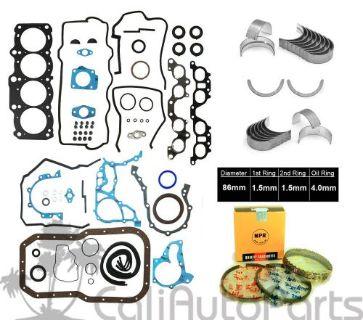Engine Full Gasket Set Bearings Rings Fits 98-00 Toyota RAV4 2.0L L4 DOHC 16v
