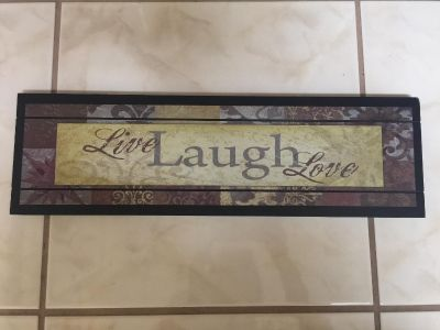 Live, Laugh, Love wall sign