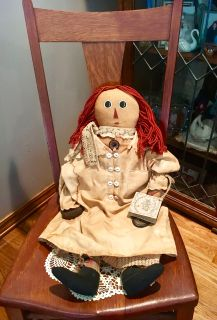 Vintage Raggedy Ann Doll from the Tattered Rabbit Cottage Garden Collection