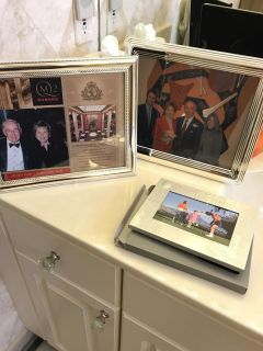 3 frames( 2silver plate) 1 golf theme gift