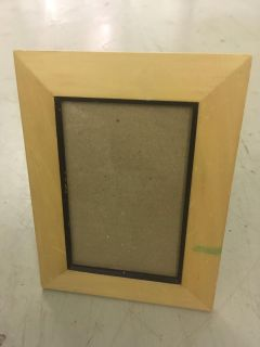Wood frame with glass and kick stand