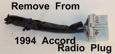 Buy 1994 Honda Accord Radio Wire Harness Plug OEM Factory Wiring Dash motorcycle in East Bridgewater, Massachusetts, US, for US $9.99