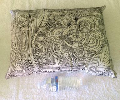 Sofa, Chair, or Office pillow. Can color in with fabric markers.