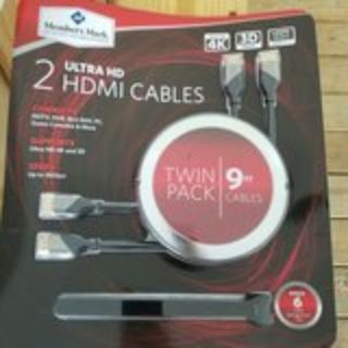New HDMI cables