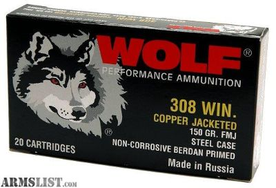 For Sale/Trade: 435 Rounds .308 Wolf Ammo 150 gr. FMJ in Ammo Box