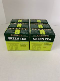 6 Boxes Bigelow Classic Green Tea Bags 40-Count Boxes, 240 Tea Bags Total Caffeinated Individual Green Tea Bags, for Hot Tea or Iced Tea