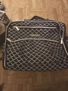 New blk and white diaper bag