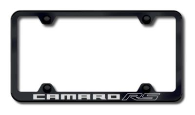 Buy GM Camaro RS Wide Body Engraved Black License Plate Frame-Metal Made in USA Ge motorcycle in San Tan Valley, Arizona, US, for US $34.49