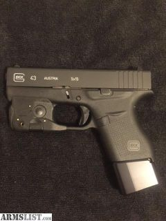 For Sale: Glock 43 with Streamlight TLR6