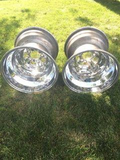 Polished Weld 16x16 Liner Wheels 5 on 5 + Hoosier Liners