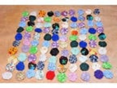 "100 Miniature 3/4"" Fabric YO YO Quilt Scrapbook Crafts"