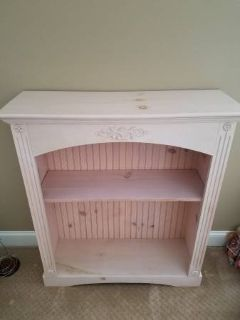 Gorgeous Bookcase or Display Piece, Natural Painted Wood