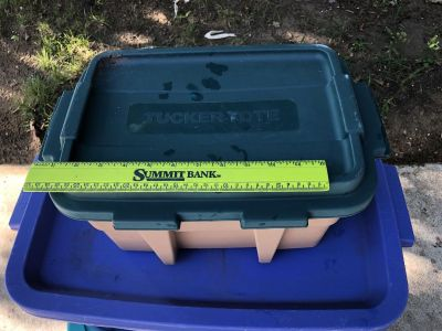 EUC Tucker Tote Plastic Container w/ Lid - 2 of 2 - No Discounts on this Item