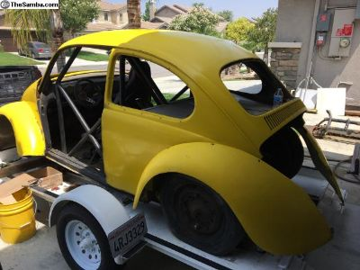 Bug shell/body with fiberglass front end fenders