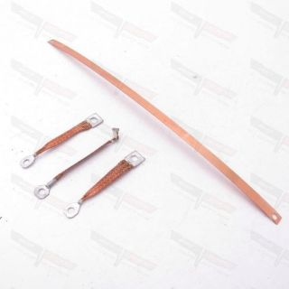 Purchase Corvette 4 Piece Copper Radio Ground Strap Set 1968-1970 motorcycle in Livermore, California, United States, for US $21.99
