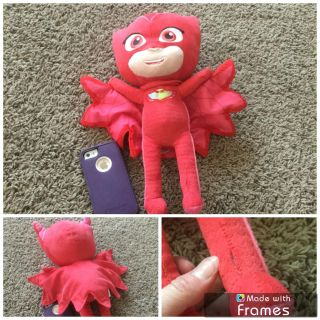 P.J. masks Owlette plush, in GUC except tiny slit up one leg, see bottom right. $1.00