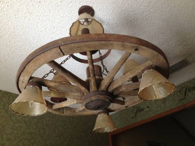 Rustic light fixture  (Sulphur springs )