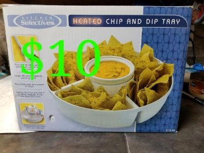 Chips and Dip tray heated
