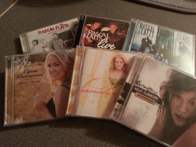 Rascal Flatts, Carrie Underwood and Kelly Clarkson CD's