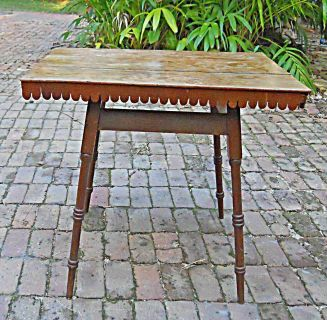 Antique Folk Art Table Country Furniture Primitive