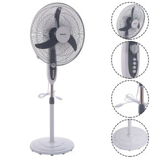 BRAND NEW IN BOX 'Costway' 18 Inch Adjustable 3-speed Manual Control Oscillating Standing Pedestal Fan.