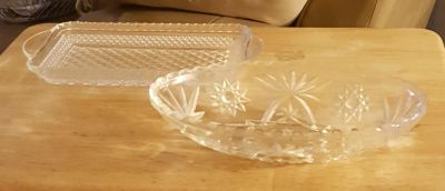 Two crystal dishes!