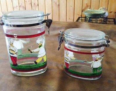 Bon Appetit Chef Kitchen glass containers