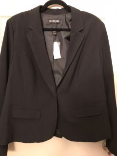 NWT black Lane Bryant blazer plus size 20