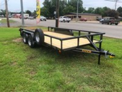 2018 83x16 Tandem Pipe Top Utility Trailer