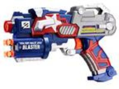 Big League Blaster Gun Foam Darts Dartboard Toy Faster