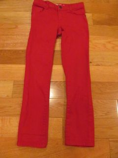 Crazy 8 size 7 red skinny jeans (small dot on leg)