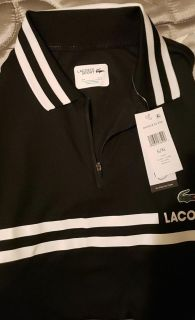 Xl lacoste black and white sport shirt