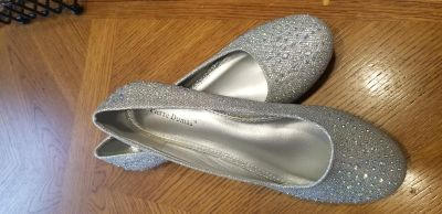Pierre Dumas sparkly flats, never been worn, size 10
