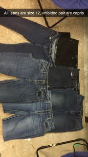 Size 12 jeans and capris