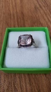 Sterling Silver Amythest Ring Size 9
