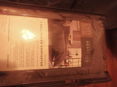 Queen size Comforter Brownish Charcoal KENNETH COLE