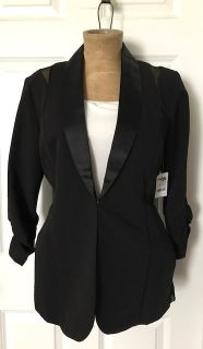 Nwt black blazer with sheer sides/back size xl