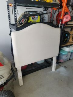 TWIN NATURAL FABRIC HEADBOARD--> GREAT FOR MONOGRAM OR UPHOLSTERY PROJECT!!