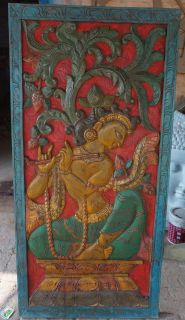 STOREWIDE FREE SHIPPING!!Vintage Krishna Fluting Kadambari Wish Tree Door Wall Panel