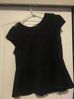 Black shirt with studs