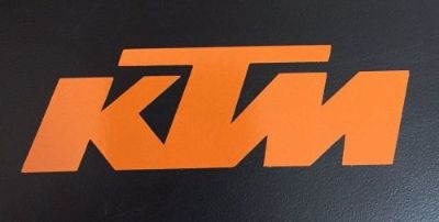 "Sell KTM MOTORCYCLE STICKERS DECALS LOT 3""X9"" (2 DECALS) ORANGE motorcycle in Hoskinston, Kentucky, United States, for US $8.98"