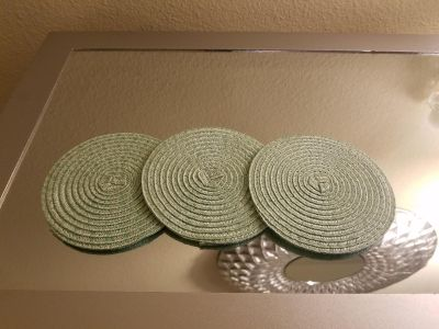 Pier 1 Candle and coasters
